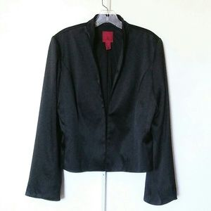 JS Dressy Black Satin Jacket